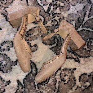 Sam Edelman suede  Clover Pumps block heels